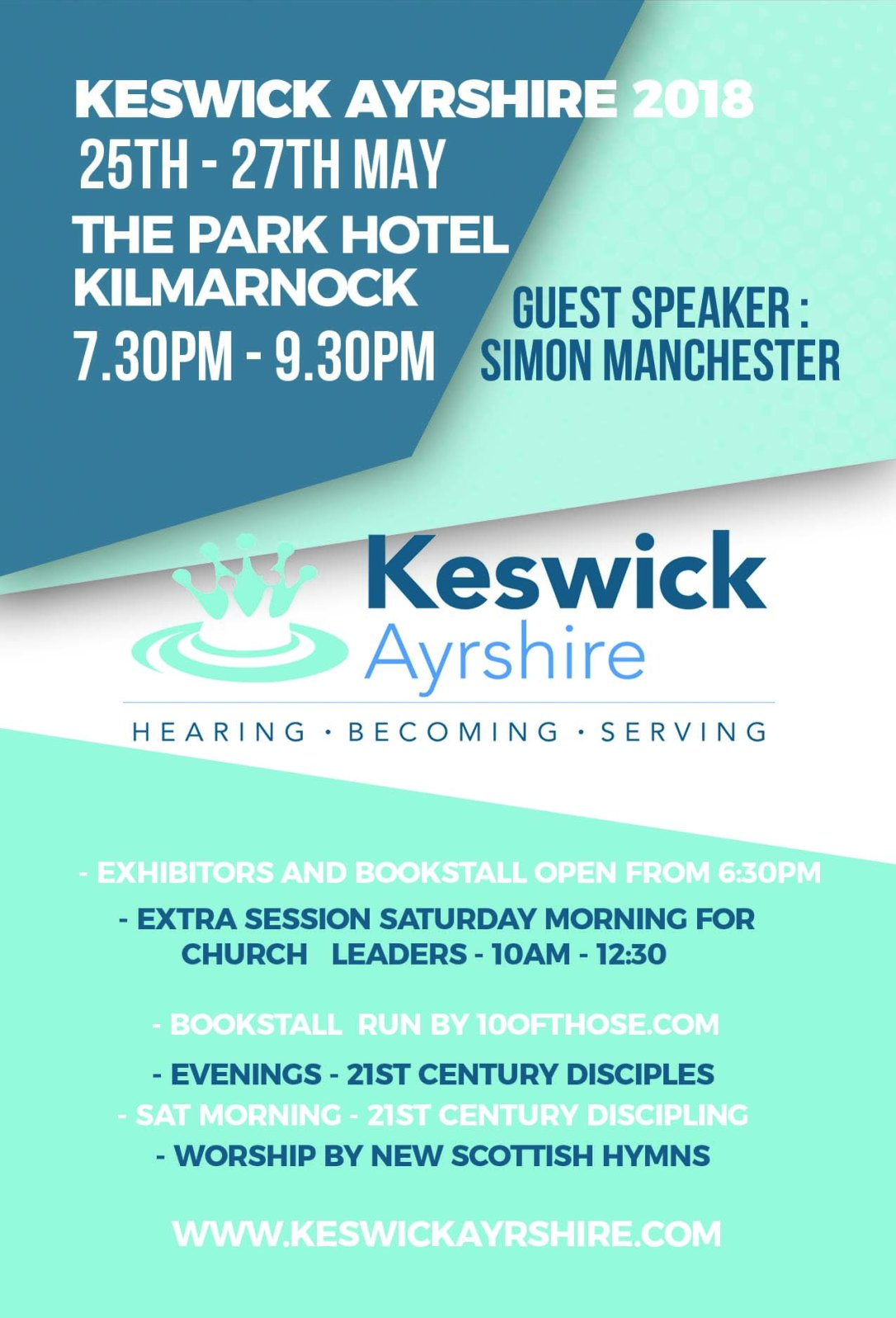 Keswick Ayrshire 2018 Flyer Green - White